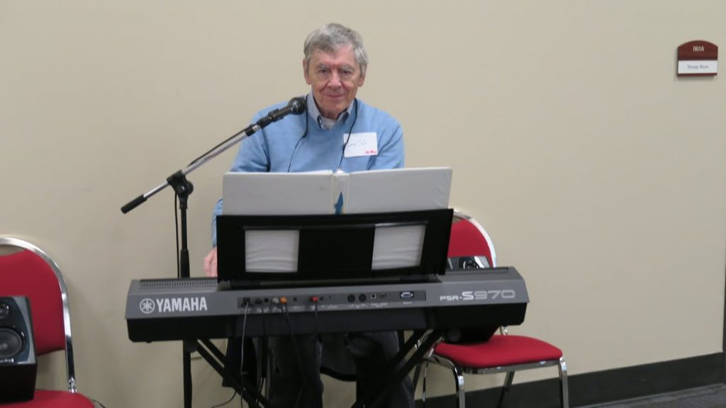 Larry Tyler at the keyboard
