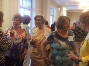 Mingling before dinner in the Ford Ballroom