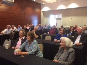 The audience for Ray Higgins