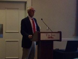 Ian Banner giving his presentation